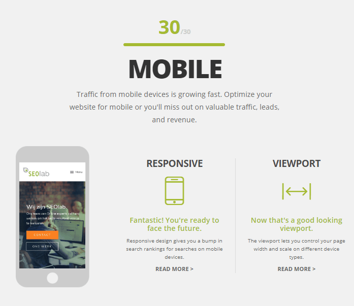website grader mobiel